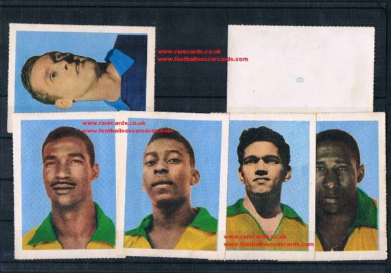 1958 set 24 Brazil Pelé original Aquarela